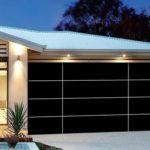 black matt garage door