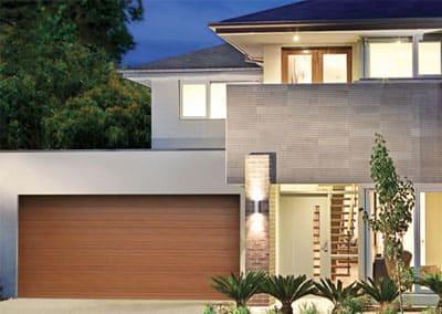DecoWood® Garage Door - Slimline profile, Western Red Cedar colour