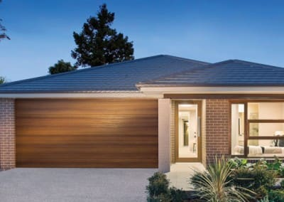 DecoWood® Garage Door - Slimline profile, Kwila colour