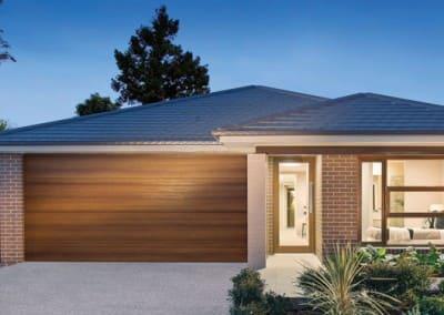 DecoWood® Garage Door - Slimline profile, Kwila colour