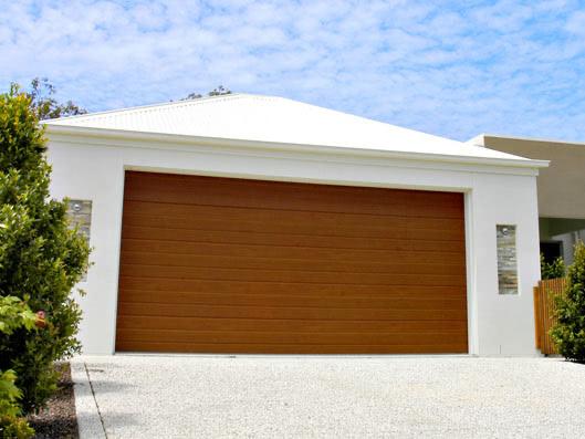 Decowood Range Steel Line Garage Doors, Western Red Cedar Garage Door