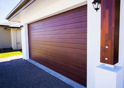 & DecoWood® Garage Door u2013 Slimline profile Jarrah colour