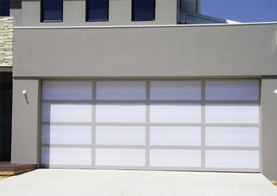 Inspirations® Garage Door   Aluminium Frame With Acrylic Inserts