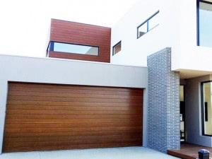 New biowood garage doors steel line for Wood composite garage doors