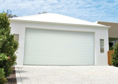 Colorbond Garage Door - Slimline profile, Surfmist colour
