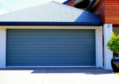 Colorbond® Garage Door - Slimline profile, Deep Ocean colour