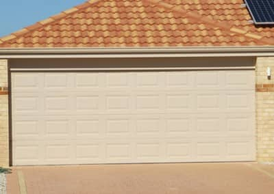 Colorbond® Garage Door - Heritage profile, Classic Cream colour