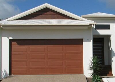 Colorbond® Garage Door - Ranch profile, Manor Red colour