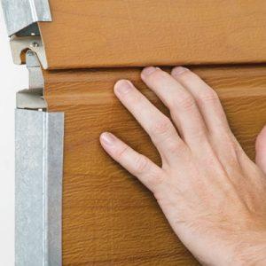 finger safe garage door
