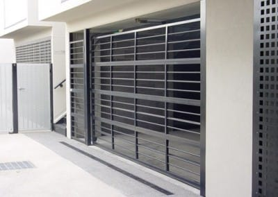 aluminium bar grille garage door