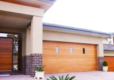 timber garage door