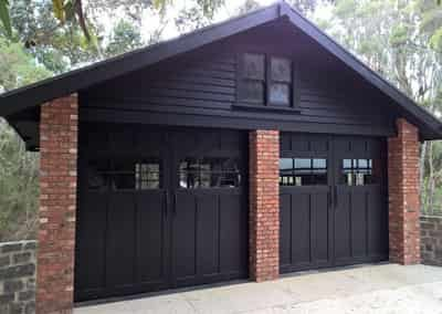 Plywood Tilt Door with Windows