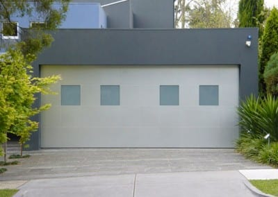 Aluminium Composite Tilt Door with Windows