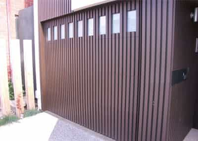 Flash Mount Shadow Clad Tilt Door with Windows