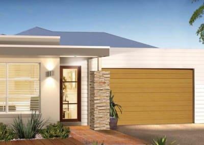 DecoWood® Garage Door - Slimline profile, Casuarina colour