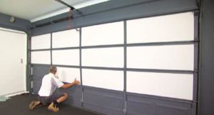 insulating a garage door