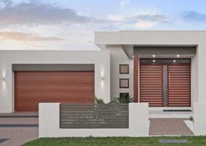 timber look garage door
