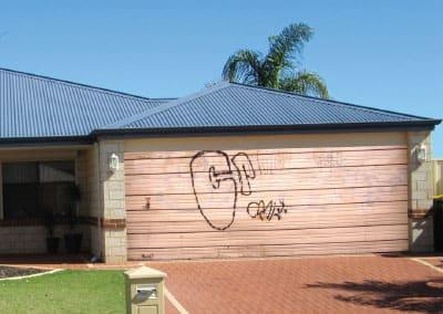graffitti garage door