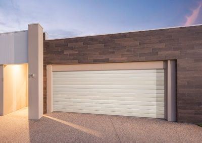 Steel-Line Matt Finish Garage Door – Slimline profile, Surfmist colour