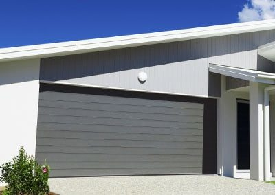 Rendered Finish Garage Door – Slimline profile, Mosaic colour