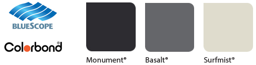 colorbond garage door colours