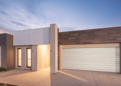 Colorbond Sectional Garage Door - Slimline Profile, Surfmist