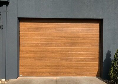 colorbond timber look garage door