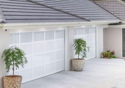 acrylic garage door with aluminium frame, acrylic inserts and windows